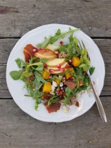 Fall Harvest Salad with Elderberry Syrup Dressing