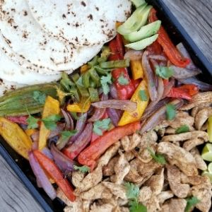 sheet pan chicken fajita