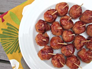 3 Ingredient BBQ Turkey Meatballs