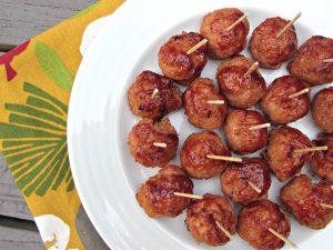 3 Ingredient BBQ Turkey Meatballs
