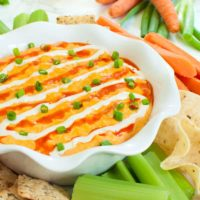 Slow Cooker Buffalo Chicken Dip with Real Chicken