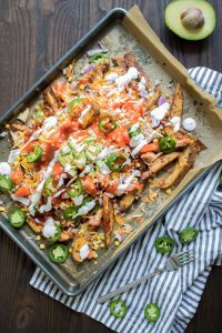 BBQ Loaded Chicken Taco Fries