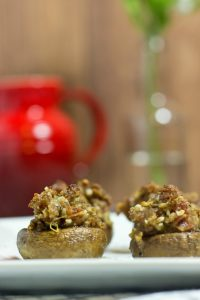 Gluten-Free Bacon and Sausage Stuffed Mushrooms
