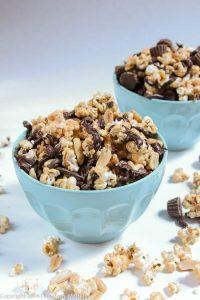 Peanut Butter Cup Popcorn