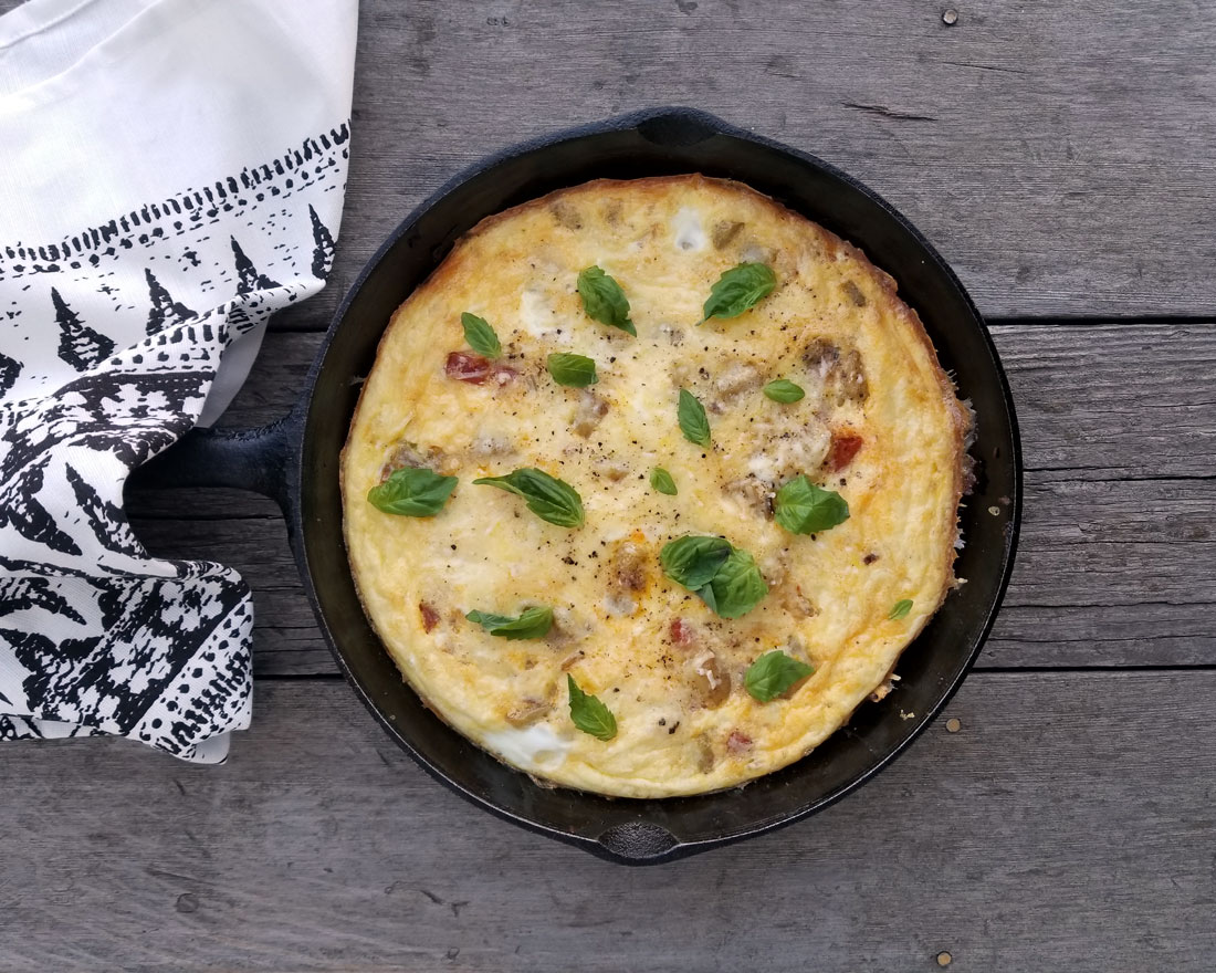 Chorizo Leek Frittata