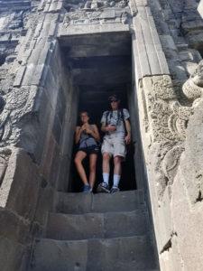 Inside a Prambanan temple