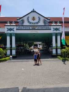 Entering the Sultan's Palace in Jogja