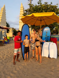 Surf lessons successful