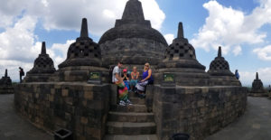 Baker family in Borobudur