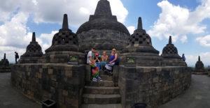 Baker family in Borobudur
