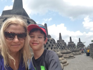 Stunning views from the top of Borobudur