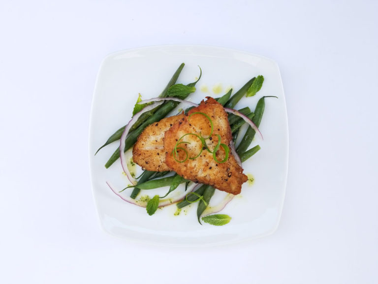 Red Snapper with Green Beans
