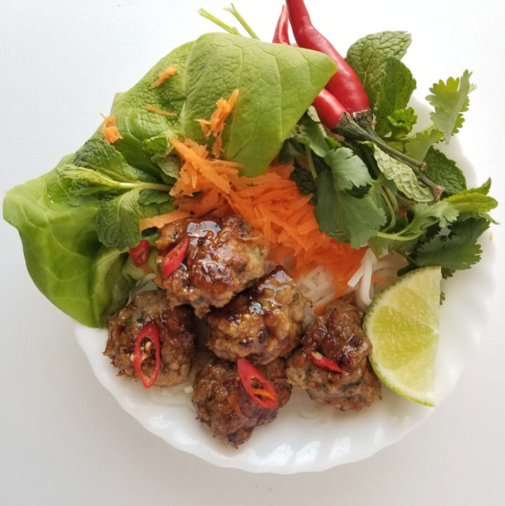 Sticky Thai Chicken Meatbals