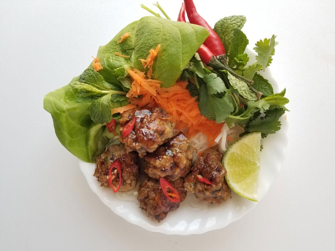Sticky Thai Chicken Meatbals