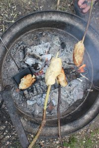 Camping Bannock on a Stick