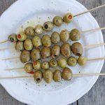 Grilled Skewered Olives