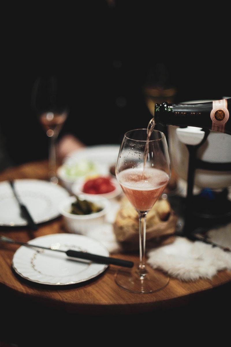 Moonlight & Eli Fondue + Champagne
