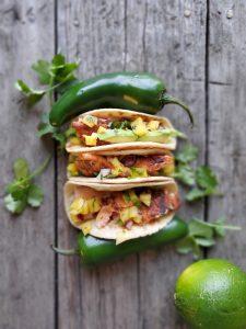 Salmon Tacos`