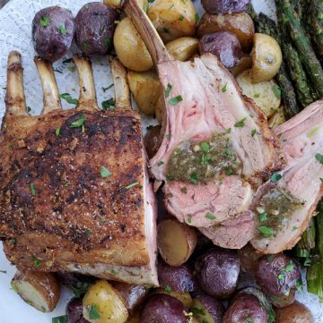 Simple Roasted Rack of Lamb