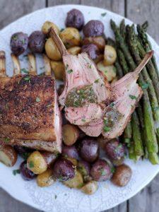 Simple Roasted Rack of Lamb
