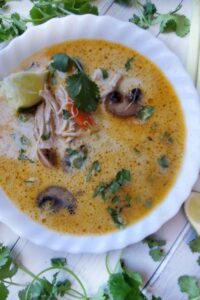 slow cooker chicken coconut soup