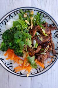spicy pork bowl