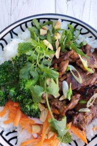 spicy pork bowls
